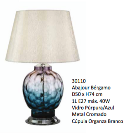 Abajur Bergamo 30110