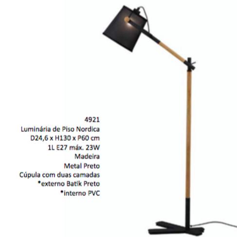 Luminaria de Piso Nordica 4921