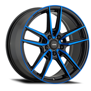 KONIG MYTH 18x8 5x112 ET43 GLOSS BLACK W/ BLUE TINTED CLEARCOAT