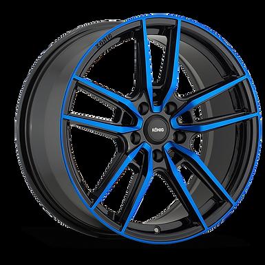 KONIG MYTH 17x8 5x114.3 ET43 GLOSS BLACK W/ BLUE TINTED CLEARCOAT