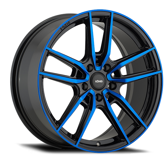 KONIG MYTH 16x7.5 5x114.3 ET43 GLOSS BLACK W/ BLUE TINTED CLEARCOAT