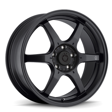 KONIG BACKBONE 16X7 5X114.3 ET40 Matte Black Milling Logo on Spoke