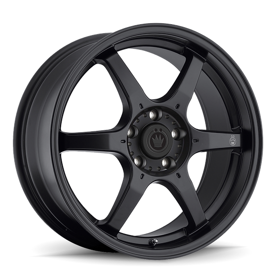 KONIG BACKBONE 17X7.5 5X114.3 ET35 Matte Black  Milling Logo on Spoke