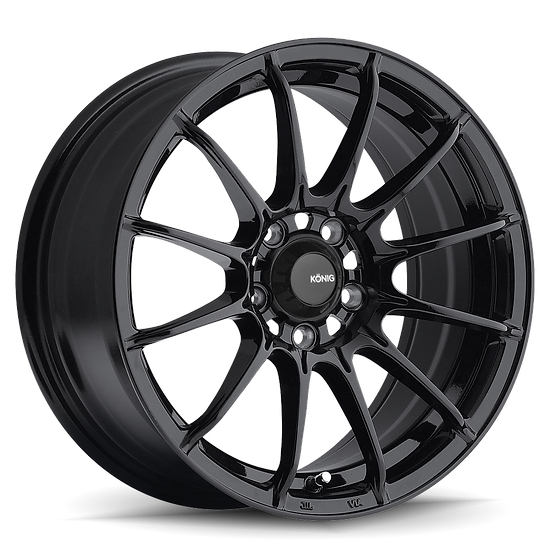 KONIG DIAL IN 15X8 4X100 ET25 Gloss Black