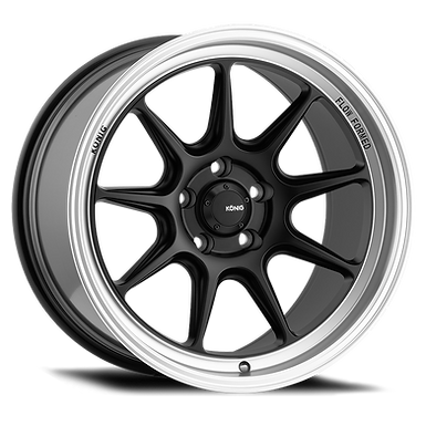 KONIG COUNTERGRAM 19x9.5A 5x114.3 ET35 MATTE BLACK / MATTE MACHINED LIP