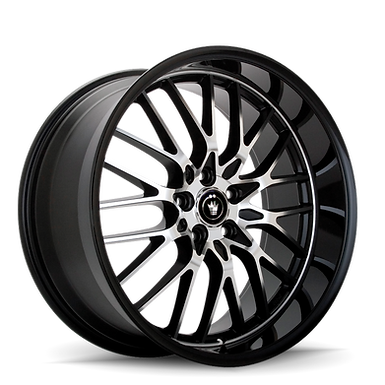 KONIG LACE 18X8 5X112 ET35 Black/Machine Spoke