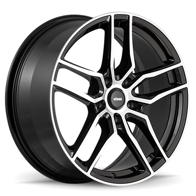 KONIG INTENTION 16x7.5 5x112 ET45 GLOSS BLACK / MACHINE FACE