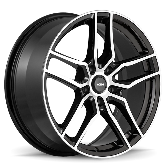 KONIG INTENTION 18x8 5x114.3 ET45 GLOSS BLACK / MACHINE FACE