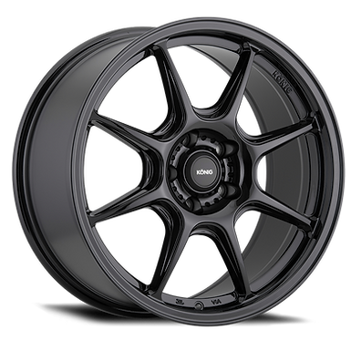 KONIG LOCKOUT 16x7.5 5x112 ET45 GLOSS BLACK