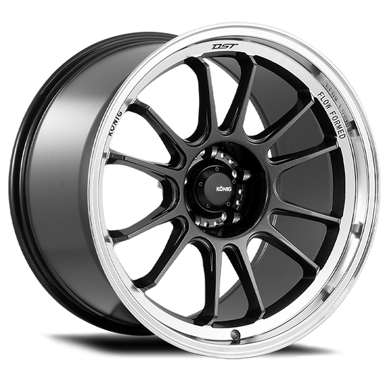 KONIG HYPERGRAM 18x8.5 5X112 ET43 METALLIC CARBON W/ MACHINED LIP