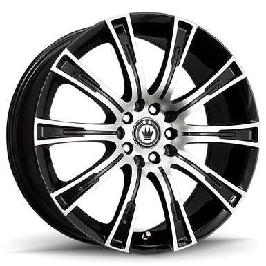 KONIG CROWN 18x8 5x114.3  ET40 Black Machine face