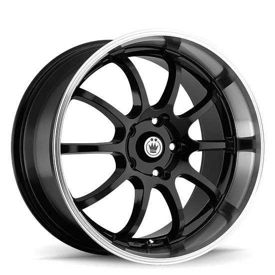 KONIG Lightning 15X7 4X100 ET38 Blue/Machine Lip