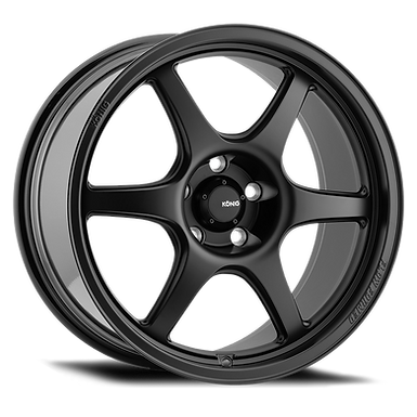 KONIG HEXAFORM 17X8 4X100 ET45 MATTE BLACK
