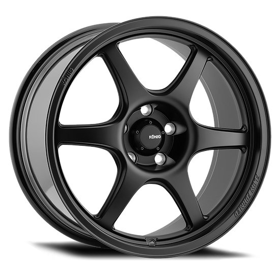 KONIG HEXAFORM 17X9 4X100 ET45 MATTE BLACK