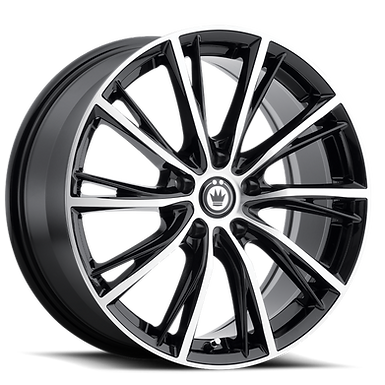 KONIG IMPRESSION 17x7.5 5x112 ET45 GLOSS BLACK W/ MACHINED FACE