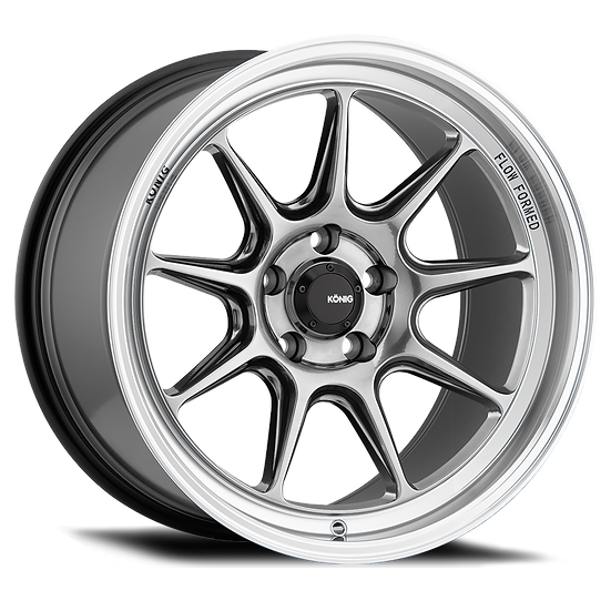 KONIG COUNTERGRAM 15x8 4X100 ET25 HYPER CHROME / MACHINED LIP
