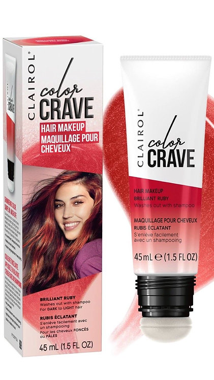 Clairol Color Crave Hair Makeup Brilliant Ruby 45ml