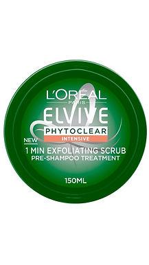L'Oreal Paris Elvive Phytoclear Intensive 1 Min Exfoliating Scrub Shampoo 150ml