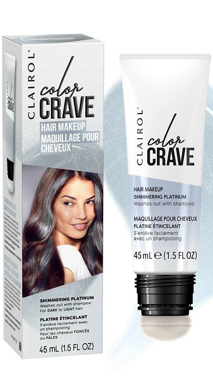 Clairol Color Crave Hair Makeup Shimmering Platinum 45ml