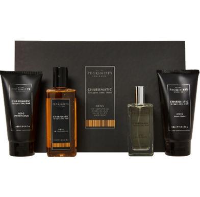 Pecksniff's England Charismatic Tarragon, Lime, Musk Mens Fragrance 4pc Gift Set