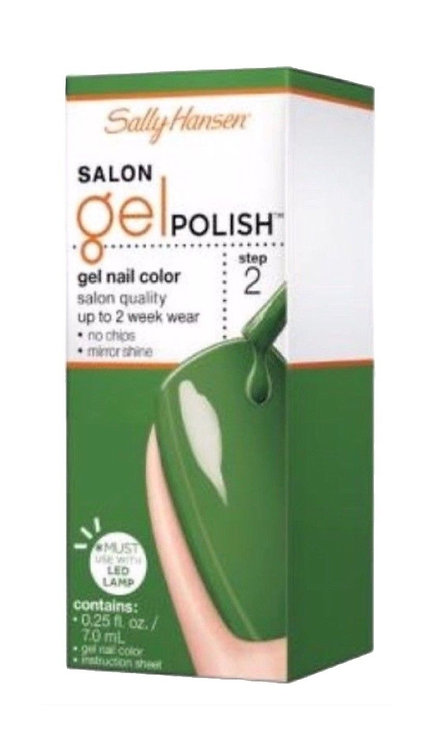 Sally Hansen Salon Gel Polish upto 2 Weeks Green Streak No Chip Mirror Shine
