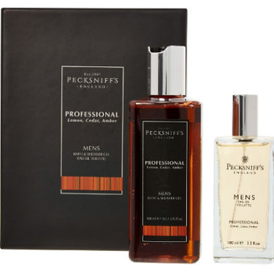 Pecksniff's England Professional Lemon, Cedar, Amber Mens Fragrance 2pc Gift Set