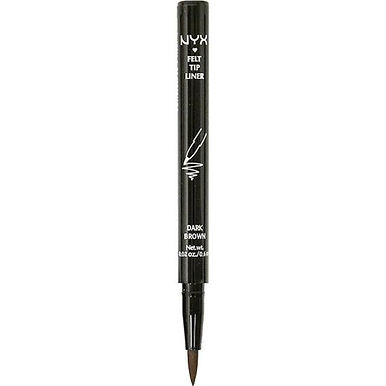 NYX Cosmetics Felt Tip Eyeliner 0.6ml - PEL02 Dark Brown