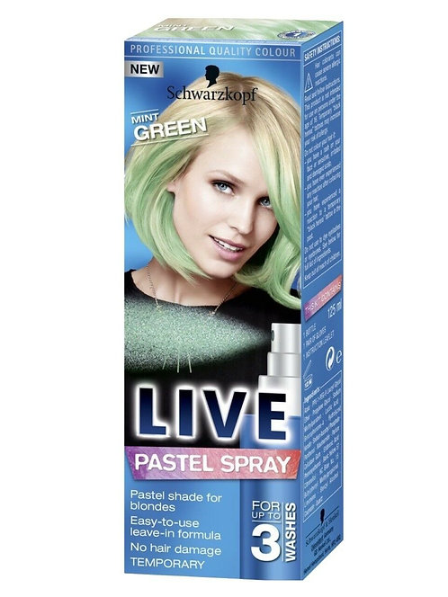 Schwarzkopf Live Pastel Spray Mint Green Professional Quality Colour
