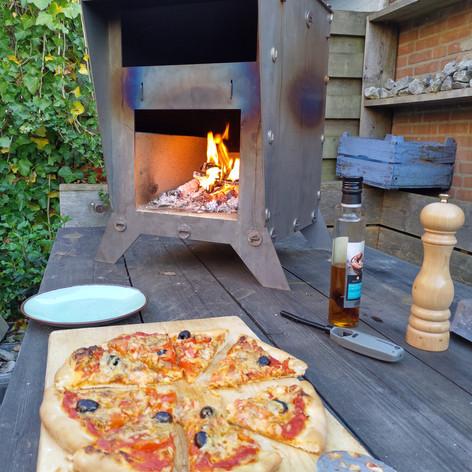 pizzacosi op tafel