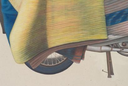 Bike and drape detail.