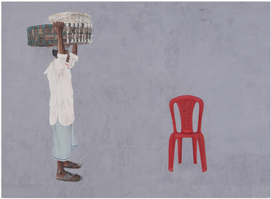 Man with basket.