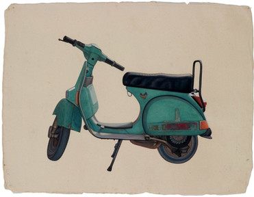 Malachite scooter.