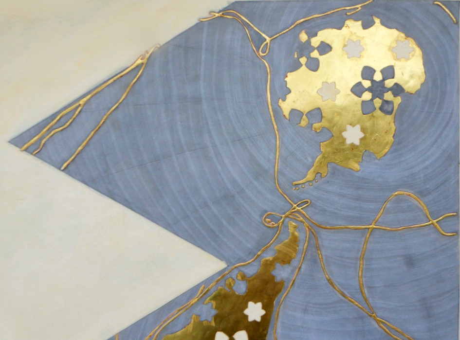 Dymaxion Map IIII.Vascom de Gama, Cristoforo Colombo, Fernao de Magalhaes and James Cook detail III.