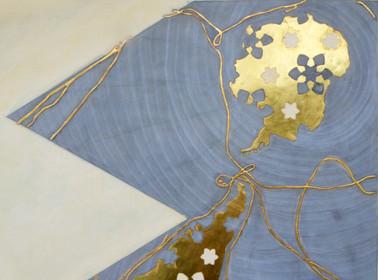 Dymaxion Map IIII.Vascom de Gama, Cristoforo Colombo, Fernao de Magalhaes and James Cook detail III.