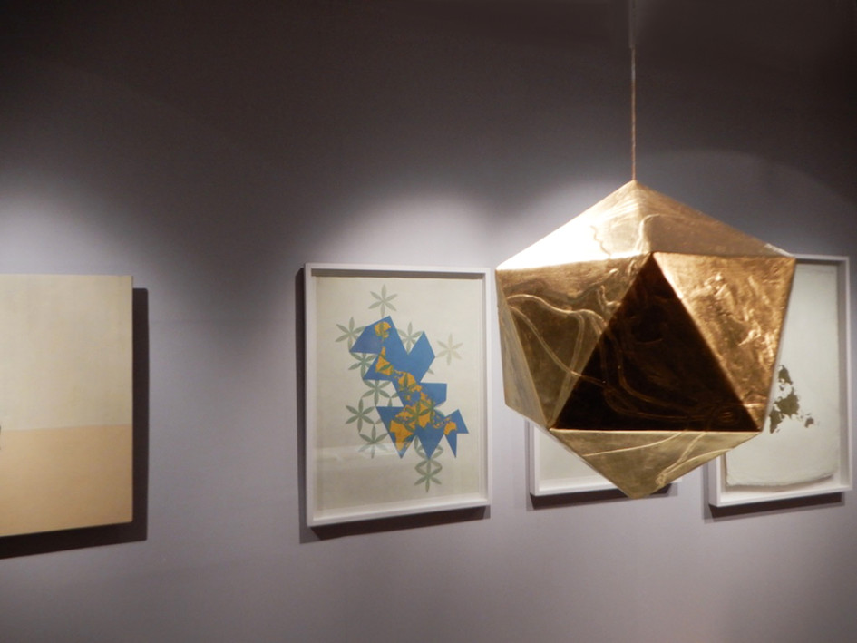 Installation Shot - Icosahedron - The Dymaxion Map
