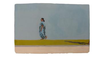 Promenade - Lady in blue Sari.