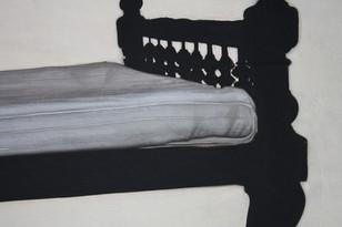 Chettinad bed, detail II.