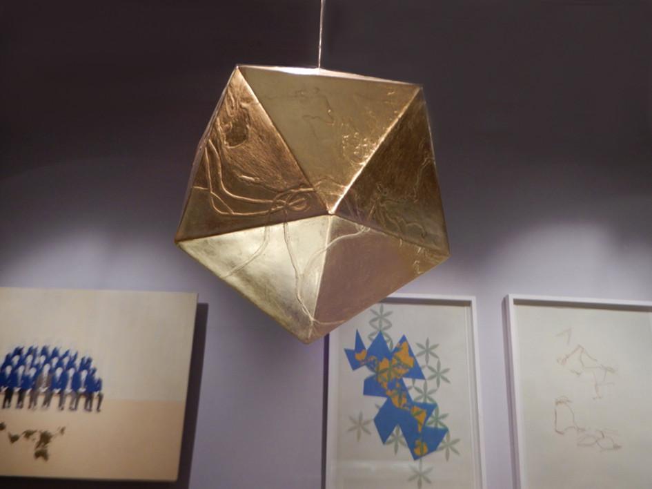 Installation shot - Icosahedron - The Dymaxion Map