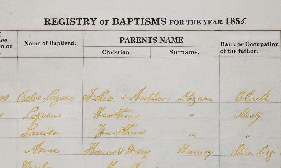 Baptisme Certificat detail III