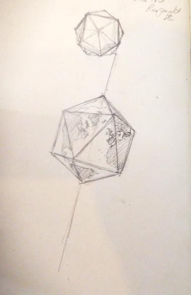 Dymaxion Map drawing