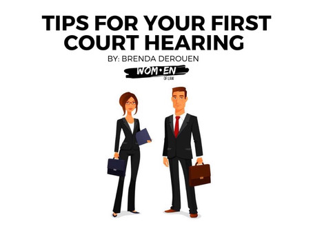 Tips For Your First Court Hearing