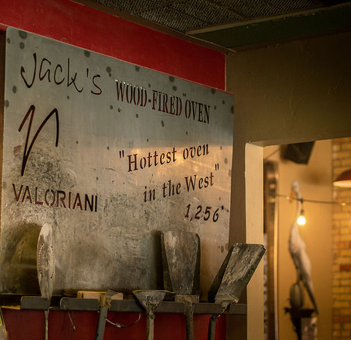 Jack's Wood Fired Oven's signature cooker is a Valoriani oven from Central Italy.