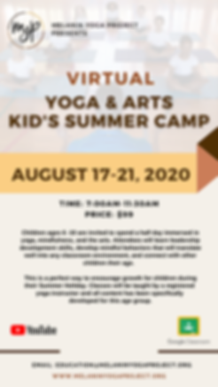 MYP- 2020 Kid's Yoga + Arts Summer Camp