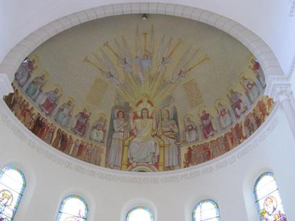 Peinture du choeur de l'église
