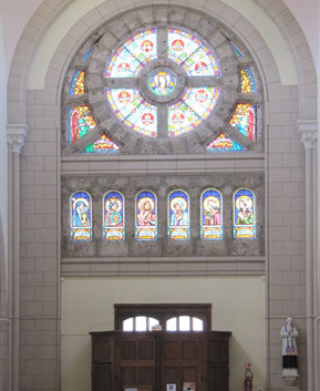 Rosace de l'église Saint-Pierre de Vérone