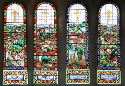 Vitraux de la nef de l'église