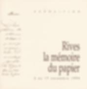 Catalogue d'exposition Rives la mémoire du papier