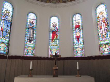 Vitraux du choeur de l'église