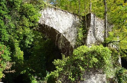 Arche du premier château d'Alivet