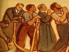 Détail de la peinture du choeur de l'église